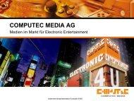 Segment Sonstige Aktivitäten - Computec Media AG