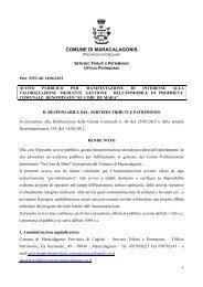 avviso pubblico per manifestazione di interesse - Comune di ...