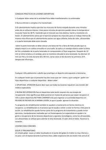 PROFILAXIS DE LESIONES EN EL DEPORTE.pdf - Condepah
