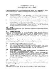 Gebührenordnung für die Schornsteinfeger-Innung in Berlin