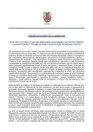 Crisi: oltre 1,7 milioni di euro per disoccupati, cassintegrati e ...