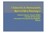 disturbi di personalità. Normalità e patologia. A. Fossati - Punti Raf
