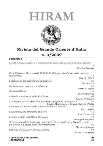 Rivista del Grande Oriente d'Italia n. 3/2009
