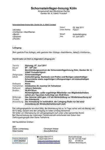 Schornsteinfeger-Innung Köln