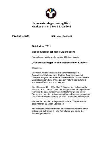 Schornsteinfegerinnung Köln Genker Str. 8, 53842 Troisdorf Presse ...