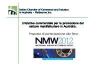 Iniziativa commerciale per la promozione del settore manifatturiero ...