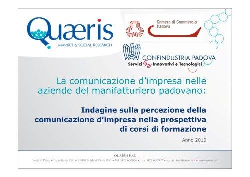 La comunicazione d'impresa nelle aziende del manifatturiero ...