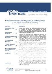 L'assicurazione delle imprese manifatturiere - Ania