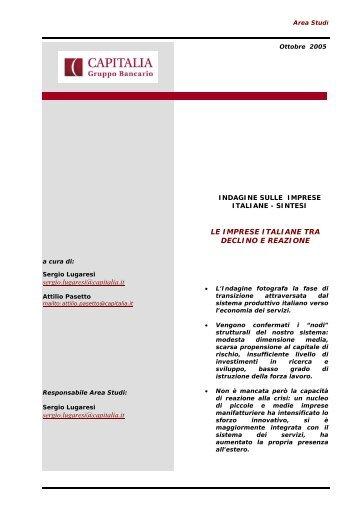 LE IMPRESE ITALIANE TRA DECLINO E REAZIONE - Incentivi on line