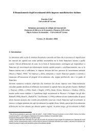 Il finanziamento degli investimenti delle imprese manifatturiere italiane