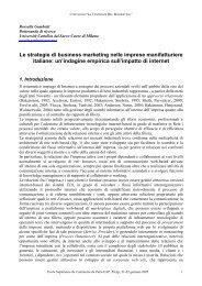 Le strategie di business marketing nelle imprese manifatturiere ...