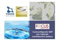 il preconfigurato SAP per l'azienda manifatturiera italiana