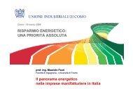 Il panorama energetico nelle imprese manifatturiere in Italia ...