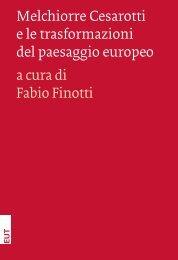 Melchiorre Cesarotti e le trasformazioni del paesaggio ... - OpenstarTs