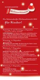 für Kinder! - SchorndorfCentro
