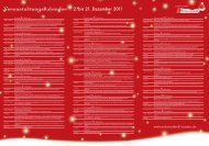 Veranstaltungskalender 2. bis 21. Dezember 2011 - SchorndorfCentro