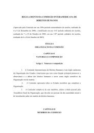 regulamento da comissão interamericana de direitos ... - DHnet