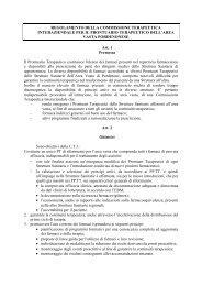Regolamento Commissione Terapeutica Interaziendale per il ...
