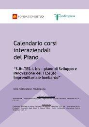 Calendario corsi interaziendali del Piano - Istud