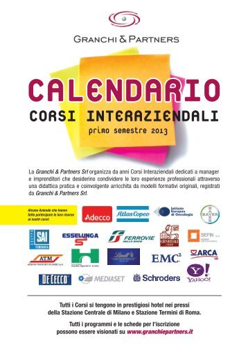 CORSI INTERAZIENDALI - Granchi & Partners