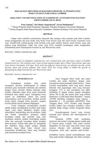 138 Dosen Program Studi Pemuliaan Tanaman, Fakultas Pertanian ...