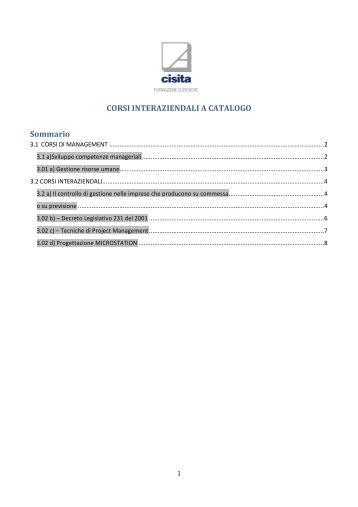 programi corsi interaziendali a catalogo (227.72 kb) - Cisita