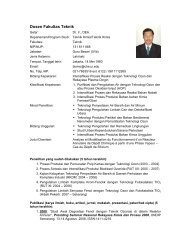Dosen Fakultas Teknik - Web Personal Dosen Universitas Indonesia