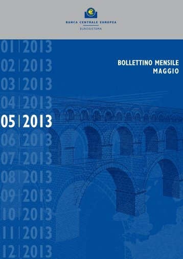 Bollettino mensile BCE maggio 2013 - Conferenza delle Regioni e ...