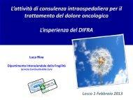 Slide La terapia del dolore: L. Riva