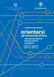 Università di Pisa - Ufficio Scolastico Regionale per la Toscana - Miur