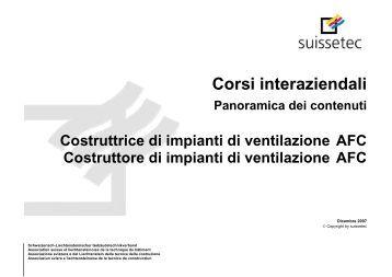 Corsi interaziendali | Panoramica dei contenuti 88.4 KB pdf - Suissetec