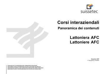 Corsi interaziendali | Panoramica dei contenuti 98.4 KB pdf - Suissetec