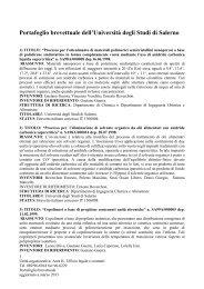 Portafoglio brevetti (agg. Maggio 2013) - Università degli Studi di ...