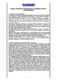 1 origini, caratteri e struttura della moderna società ... - Universinet