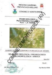 Studio geologico Relazione geologica, idrogeologica ...