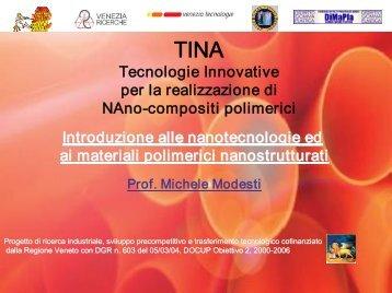 Introduzione alle nanotecnologie ed ai materiali ... - DiMaPla