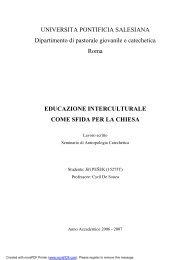 Educazione interculturale come sfida per la Chiesa