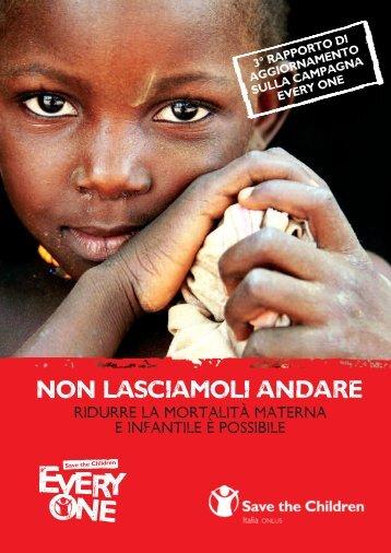 NON LASCIAMOLI ANDARE - Save the Children Italia Onlus