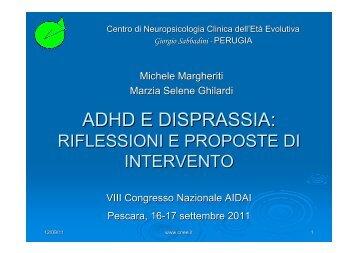 ADHD E DISPRASSIA: - Aidai