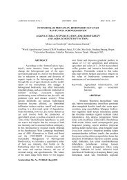 intensifikasi pertanian, biodiversitas tanah dan fungsi agroeksistem