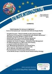 Anno X 2012 n 3 Responsabilità sociale di impresa (CAE ... - FAI Cisl