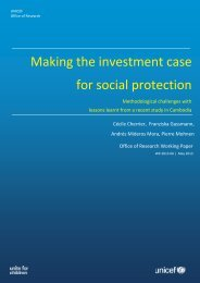 Making the investment case for social protection