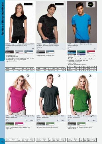 Fashion T-Shirts (Rundhals) - Condi-Werbung