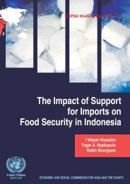 The Impact of Support for Imports on Food Security ... - AgEcon Search