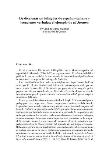 Muñoz Medrano, Diccionarios bilingües, locuciones ... - Contrastiva