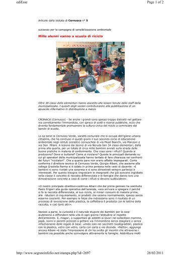 Cernuschesi magazines for Perego arredamenti cernusco