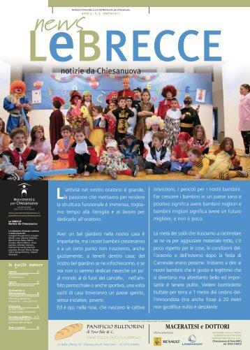Le Brecce - numero 3 - marzo 2007 - Movimento per Chiesanuova