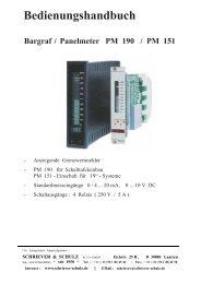 Bedienungshandbuch - SCHRIEVER & SCHULZ & Co. GmbH