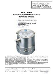Serie LP 9000 Präzisions-Differenzdrucksensor für kleine Drücke