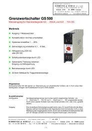 Grenzwertschalter GS 500 - SCHRIEVER & SCHULZ & Co. GmbH